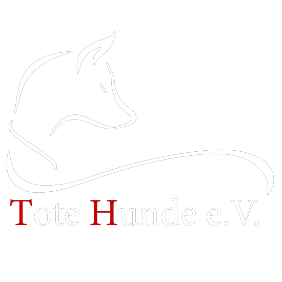 Tote Hunde Logo (Weiss)