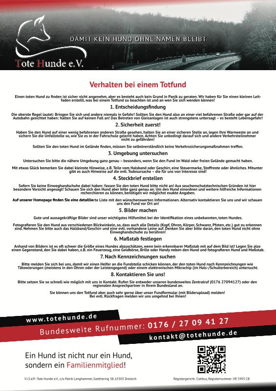 Flyer Anleitung Totfund